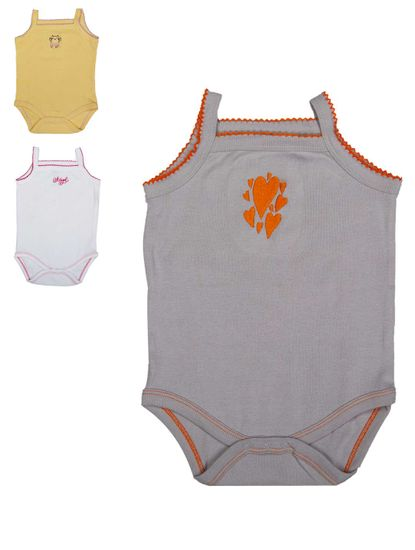 MEE MEE GIRLS BODYSUIT PACK OF 3