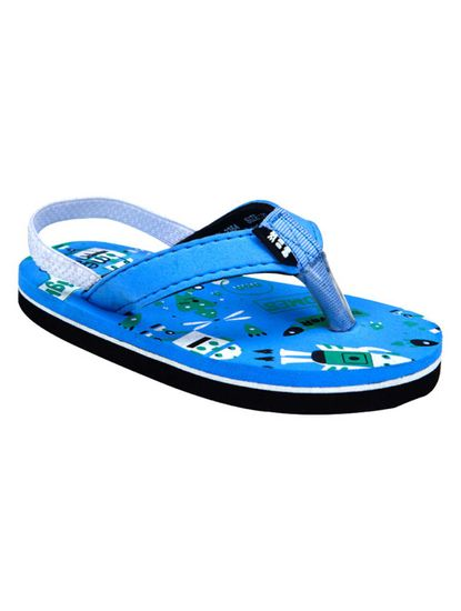 Mee Mee Unisex Flip-Flops and House Slippers_x000D_ (Black - Blue)