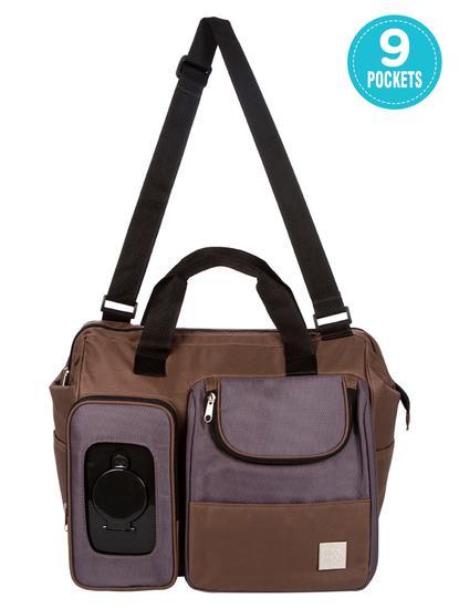 Mee Mee Multipurpose Diaper Bag (Brown)