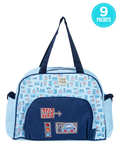 Mee Mee Multipurpose Diaper Bag (Blue)