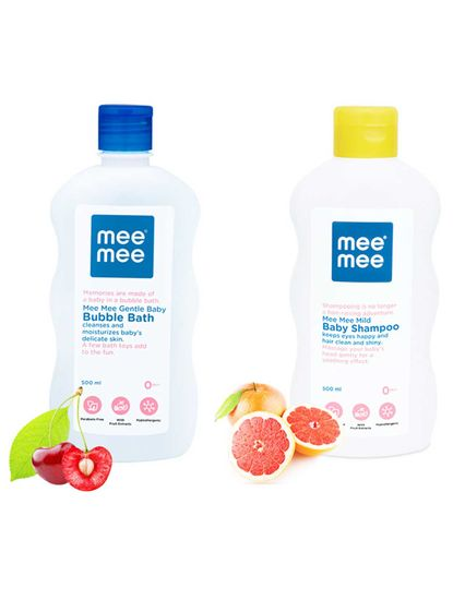 Mee Mee Gentle Baby Bubble Bath and Mild Baby Shampoo (500 ml)