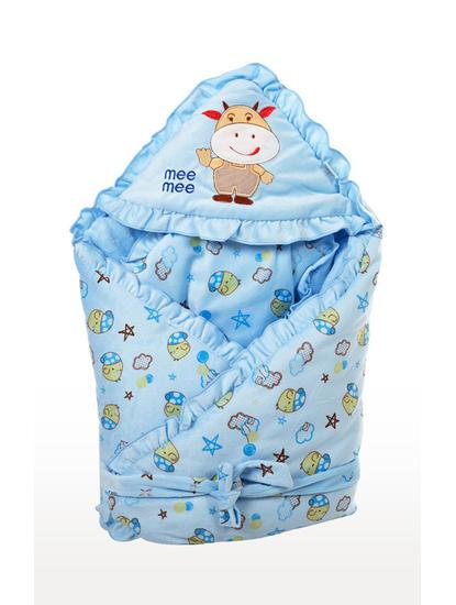 Mee Mee Warm Hooded Baby Wrapper Blanket