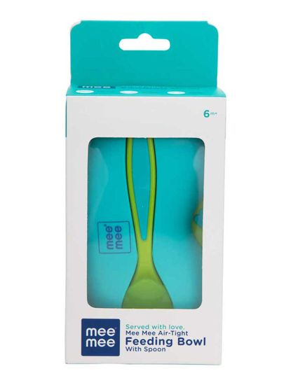 Mee Mee Air-Tight Baby Toddler Feeding Bowl With Fork & Spoon