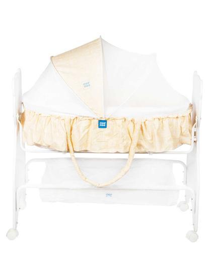 Mee Mee 2 in 1 Wooden Baby Cradle Bassinet