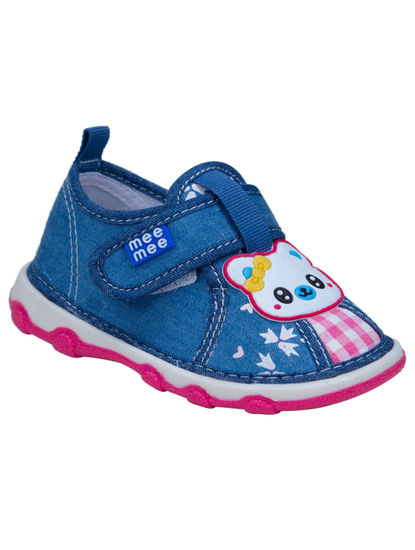 Mee Mee First Walk Baby Shoes with Chu Chu Sound (Light Blue)