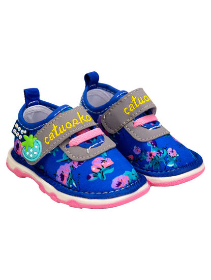 Mee Mee First Walk Baby Shoes with Chu Chu Sound (Blue)