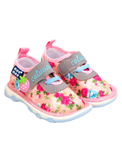 Mee Mee First Walk Baby Shoes with Chu Chu Sound (Dark Pink)