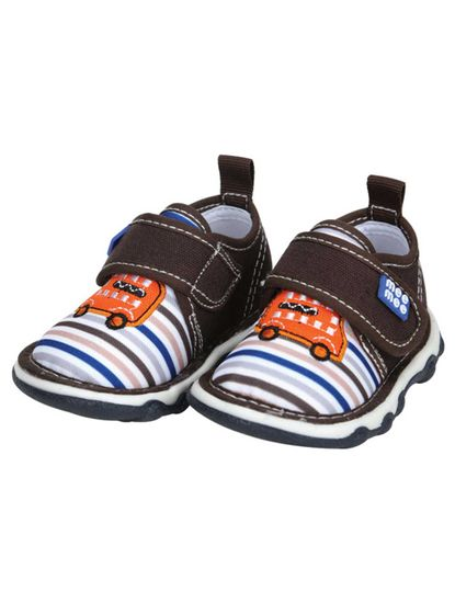 Mee Mee First Walk Baby Shoes with Chu Chu Sound (Brown)