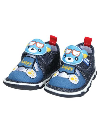 Mee Mee First Walk Baby Shoes with Chu Chu Sound (Denim)