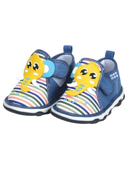 Mee Mee First Walk Baby Shoes with Chu Chu Sound (Yellow)