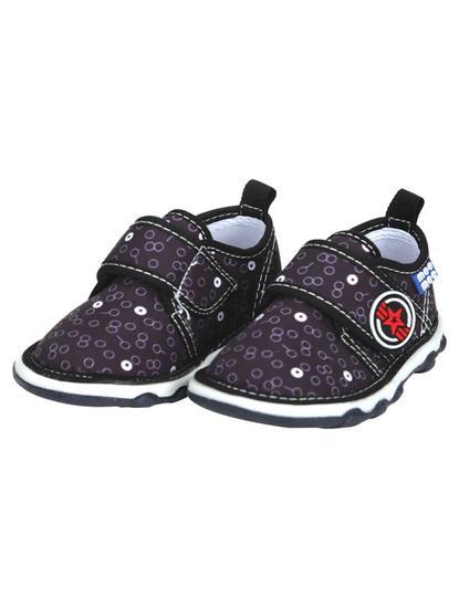 Mee Mee First Walk Baby Shoes with Chu Chu Sound (Black)