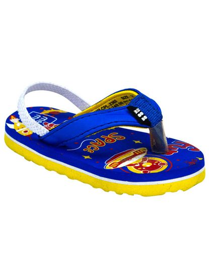Mee Mee Unisex Flip-Flops and House Slippers_x000D_ (Yellow - Blue)