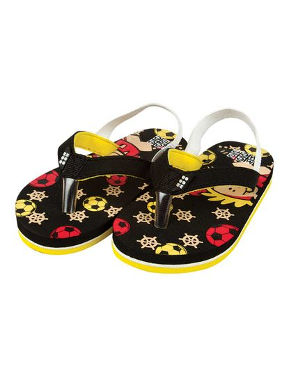 Mee Mee Unisex Flip-Flops and House Slippers (Black)