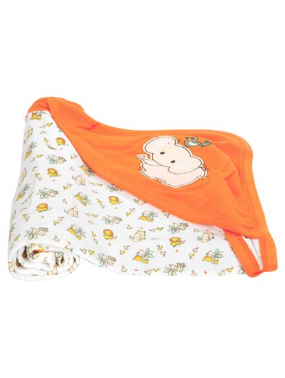 Mee Mee Baby 3-in1 Wrapper with Hood – Orange