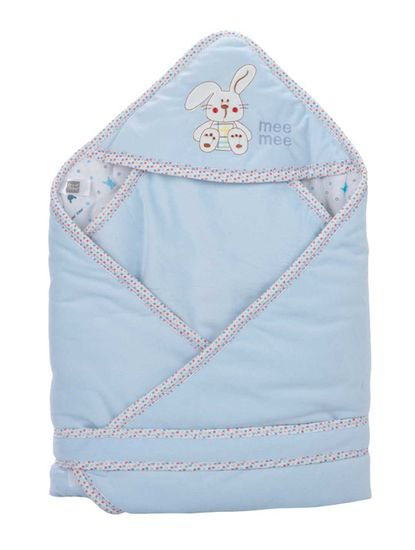 Mee Mee Baby 3-in1 Wrapper with Hood – Blue