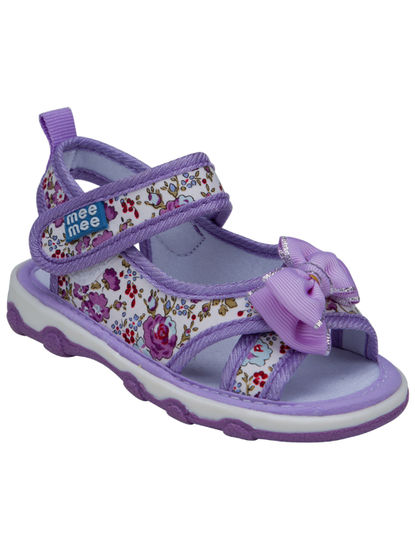 Mee Mee First Walk Baby Sandel with Chu Chu Sound (Purple)