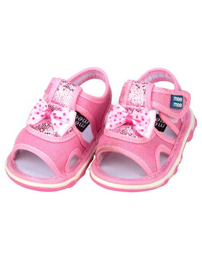 Mee Mee First Walk Baby Sandel with Chu Chu Sound (Pink)