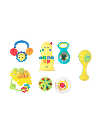 Mee Mee Baby Rattle Gift Set (7 Pieces, Musical)
