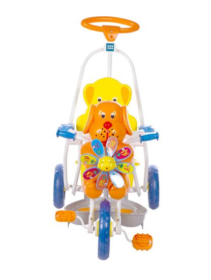 Mee Mee Baby Tricycle with Rocking Function 2 in 1 and Easy-to-Push Handle (Blue)