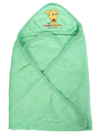 Mee Mee Soft Absorbent Baby Towel With Hood (Green)