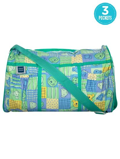 Mee Mee Multifunctional Diaper Bag with Pockets (Green)