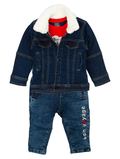 Mee Mee Boys Full Sleeve T-Shirt With Jacket & Pant Set