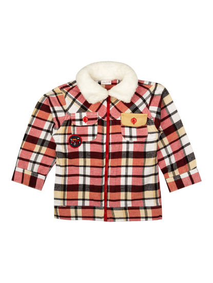 Mee Mee Boys Full Sleeve Shirt With Cotton Pant Set (Red_Beige)