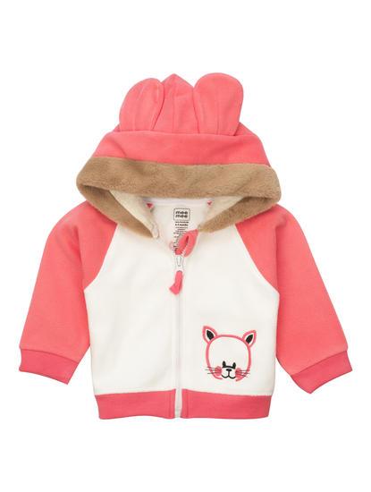 Mee Mee Full Sleeve Girls Jacket (Pink_White)
