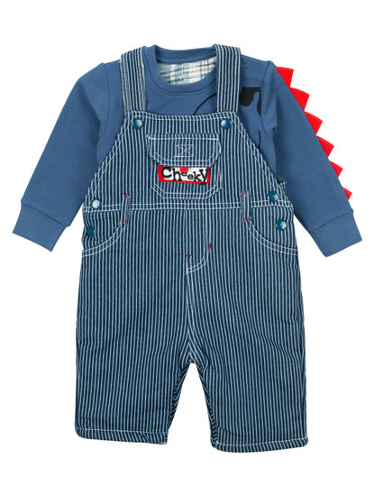 Mee Mee Full Sleeve Boys Dungree Set (Indigo)
