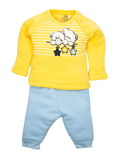 Mee Mee Full Sleeve Boys Leggings Set (Yellow Blue)