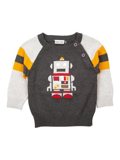 Mee Mee Full Sleeve Boys Sweater (Grey)