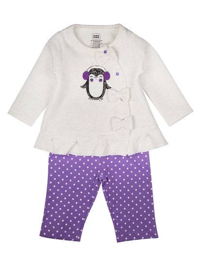 Mee Mee Full Sleeve Girls Legging Set (Lilac)