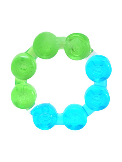 Mee Mee Multi-Textured Water Filled Teether (Green/Blue)