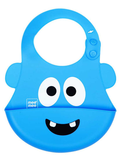 Mee Mee Water Resistant Drooler Bib with Pocket (Blue)
