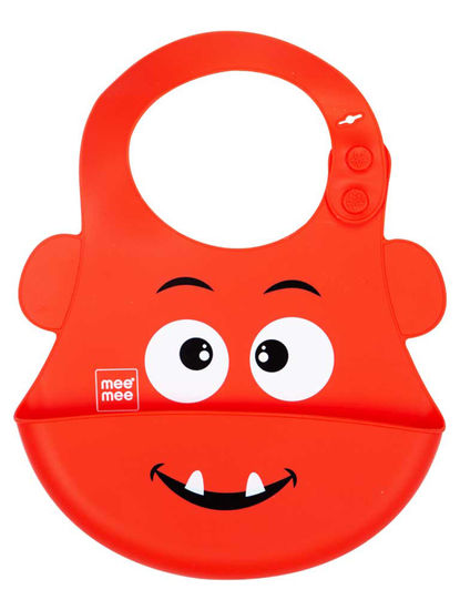 Mee Mee Water Resistant Drooler Bib with Pocket (Red)