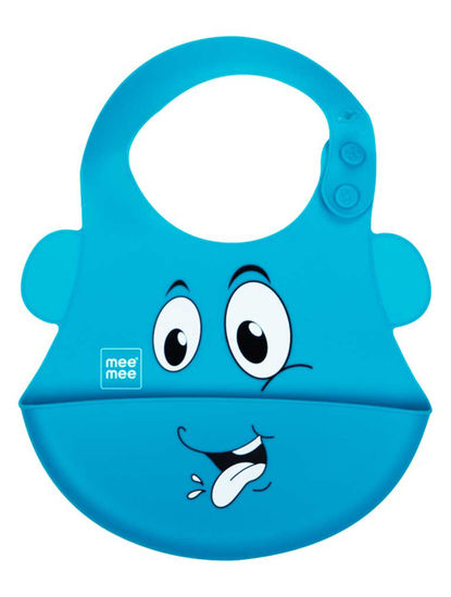 Mee Mee Water Resistant Drooler Bib with Pocket (Green)