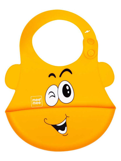 Mee Mee Water Resistant Drooler Bib with Pocket (Orange)
