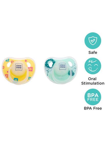 Mee Mee Orthodontic Baby Pacifier (Yellow/Green)
