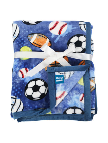 Mee Mee Soft Double Layer Baby Blanket (Blue)