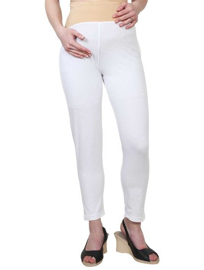 Mee Mee Maternity Leggings with Rib (Offwhite_XXL)