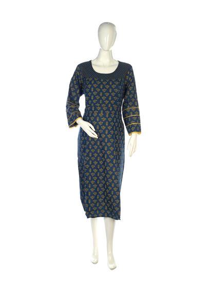 Mee Mee Stylish Maternity Dress With Nursing Option ? Dark Blue