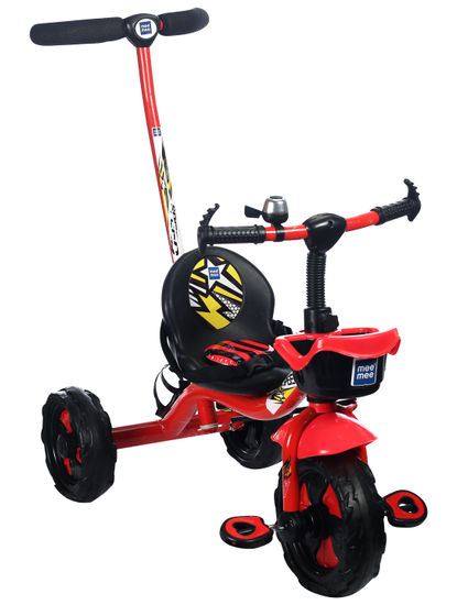 Mee Mee Easy to Ride Baby Tricycle With Push Handle (Red)