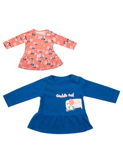 Mee Mee Girls Pack Of 2 Top – Pink & Blue