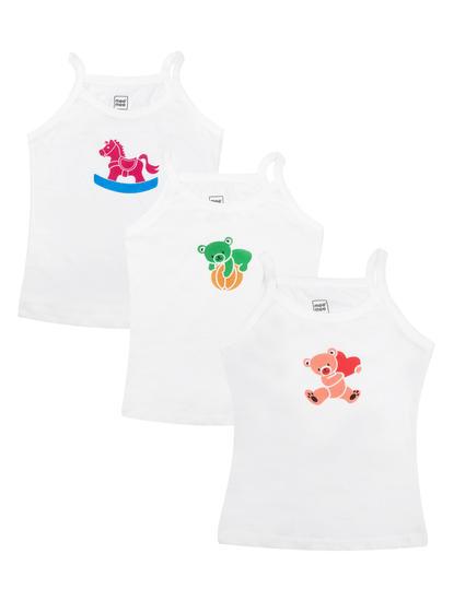 Mee Mee Girls Slips Pack Of 3 (White)