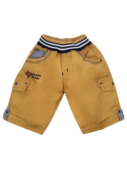 Mee Mee Kids Boys Cotton Bermuda Pants (Beige)