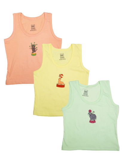 Mee Mee Boys Vests Pack Of 3 (Pastel)