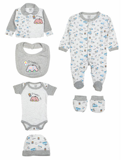 Mee Mee Unisex Gift Set Pack Of 7 (Grey Melange)