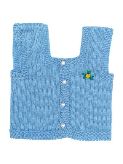 Mee Mee Sleeveless Unisex Jacquard Design Sweater