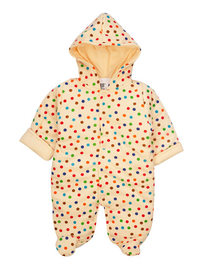 Mee Mee Full Sleeve Unisex Printed Hooded Romper (Peach)