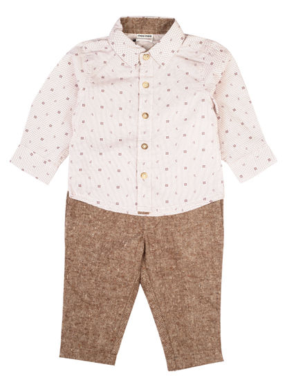 Mee Mee Boys Full Sleeve  Shirt With Cotton Full Length Pant Set